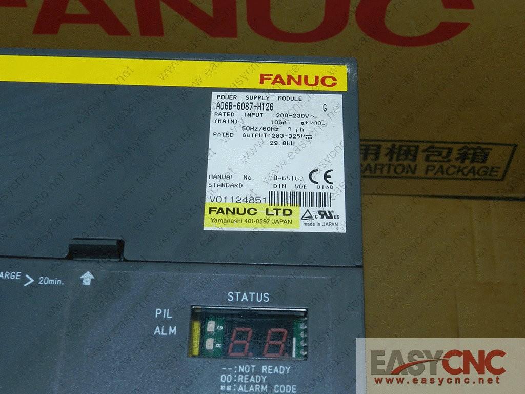 A06B-6087-H126 Fanuc power supply module used