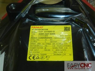 A06B-2247-B400 Fanuc ac servo motor aiF 22/3000-B new and original