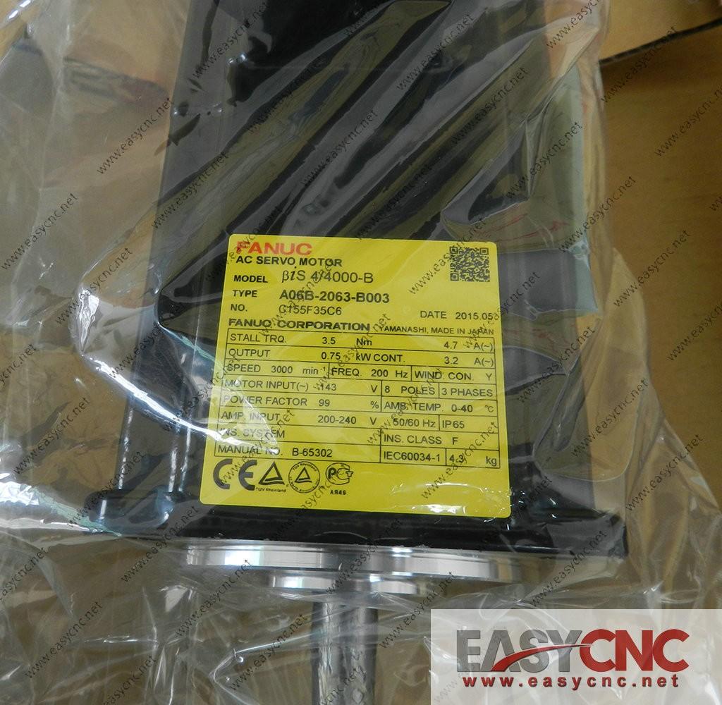 A06B-2063-B003 Fanuc ac servo motor Bis 4/4000-B new