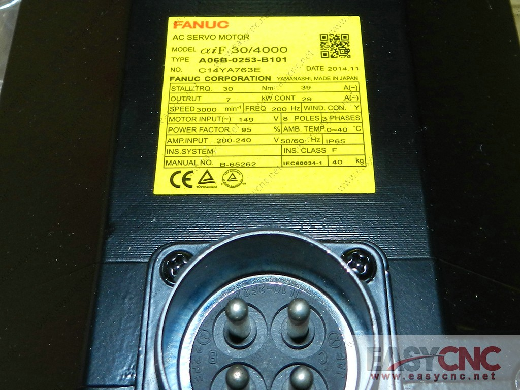 A06B-0253-B101 Fanuc ac servo motor aiF30/4000 new