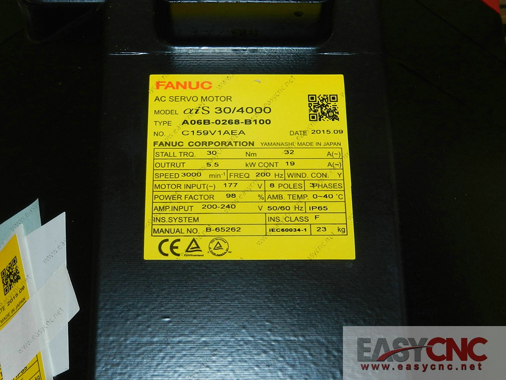 A06B-0268-B100 Fanuc ac servo motor aiS30/4000 new