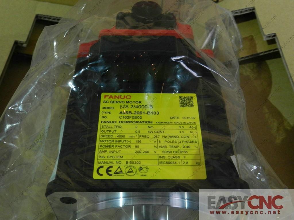 A06B-2061-B103 Fanuc ac servo motor Bis 2/4000-B new