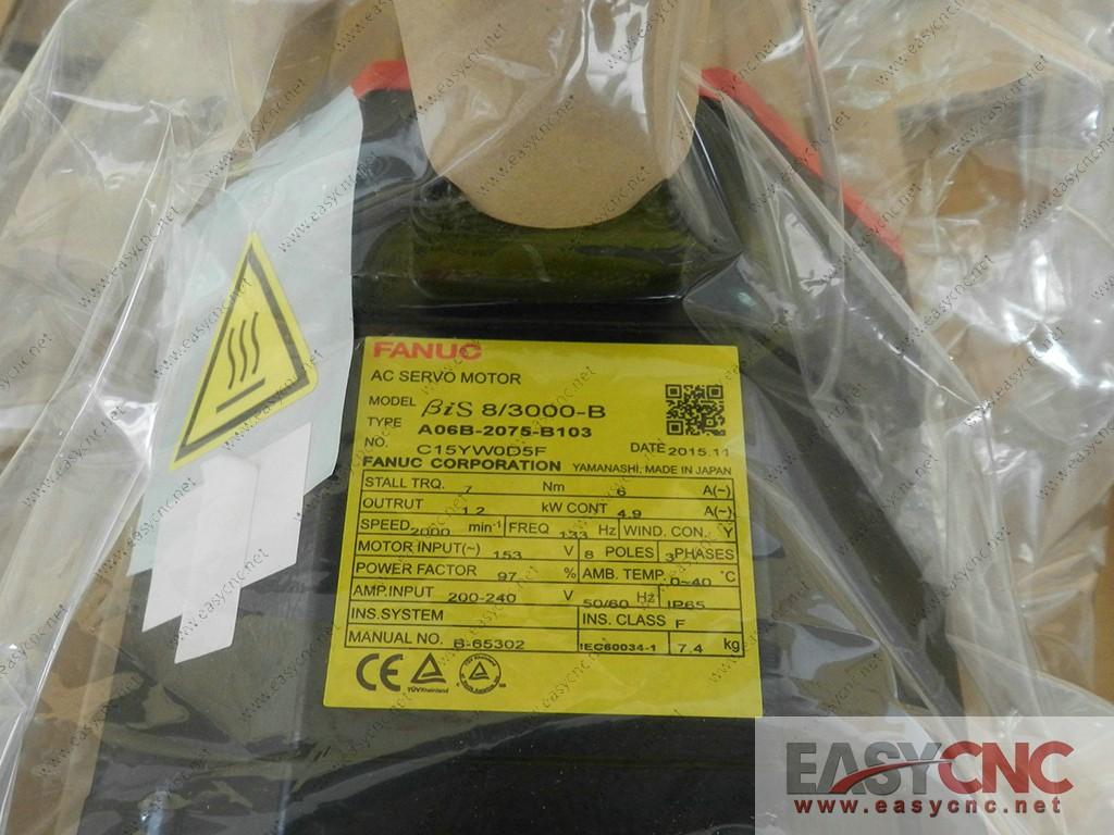 A06B-2075-B103 Fanuc ac servo motor Bis 8/3000-B new