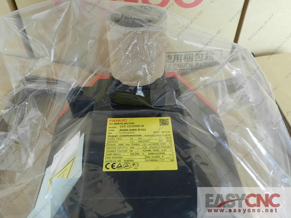 A06B-2085-B103 Fanuc ac servo motor Bis 22/2000-B new
