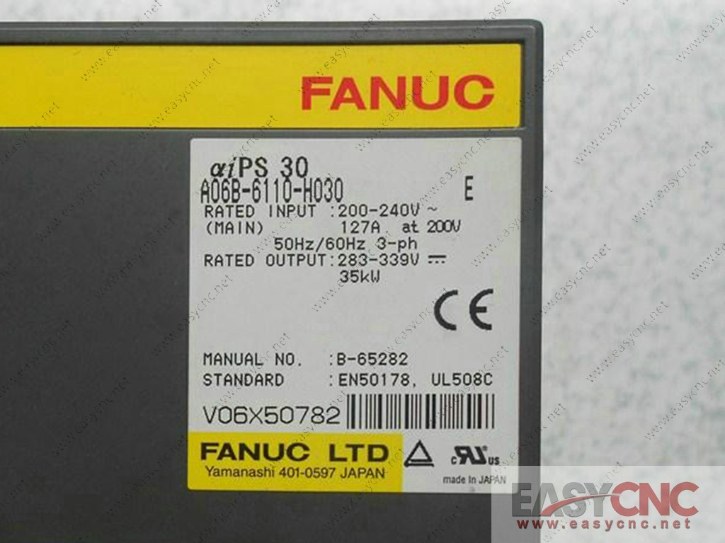 A06B-6110-H030 Fanuc power supply aiPS30 new
