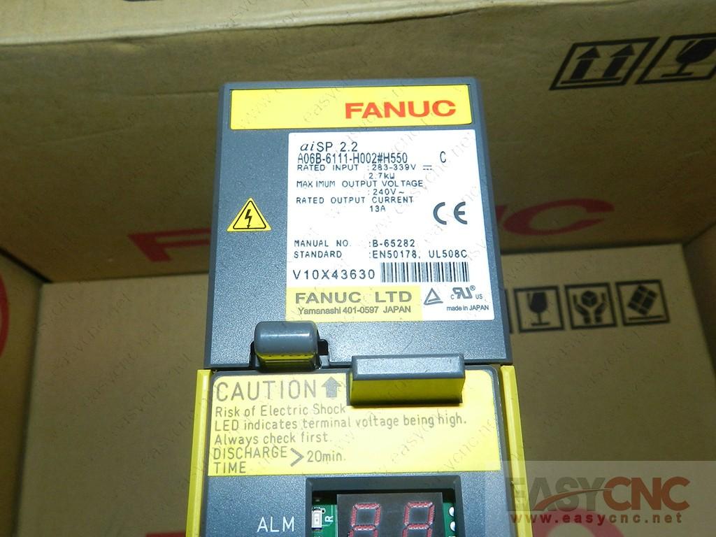 A06B-6111-H002#H550 Fanuc spindle amplifier aiSP2.2 new