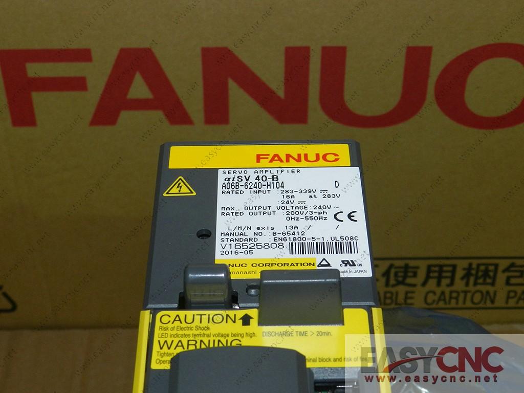 A06B-6240-H104 Fanuc servo amplifier aiSV40-B new
