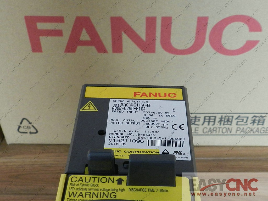 A06B-6290-H104 Fanuc servo amplifier aiSV40HV-B new