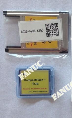 A87L-0001-0200#001GB Fanuc CF card and PC card adapter A02B-0236-K150 new