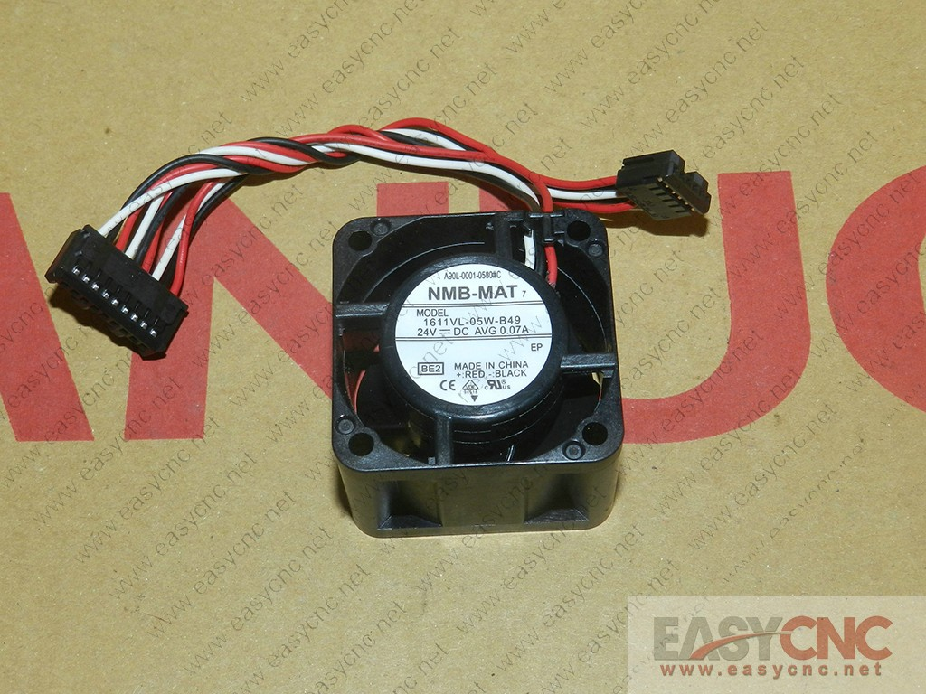 A90L-0001-0580#C 1611VL-05W-B49 NMB fan 24VDC 0.07A 40*40*28mm new and original