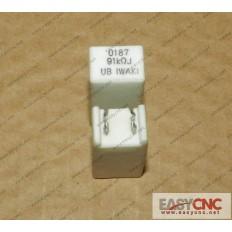 A40L-0001-0187#91KohmJ Fanuc resistor 0187 91KohmJ used