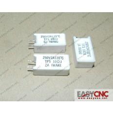 TF5 10ΩJ GJ IWAKI 250V 2A 135`C Fanuc resistor TF5 10ΩJ used