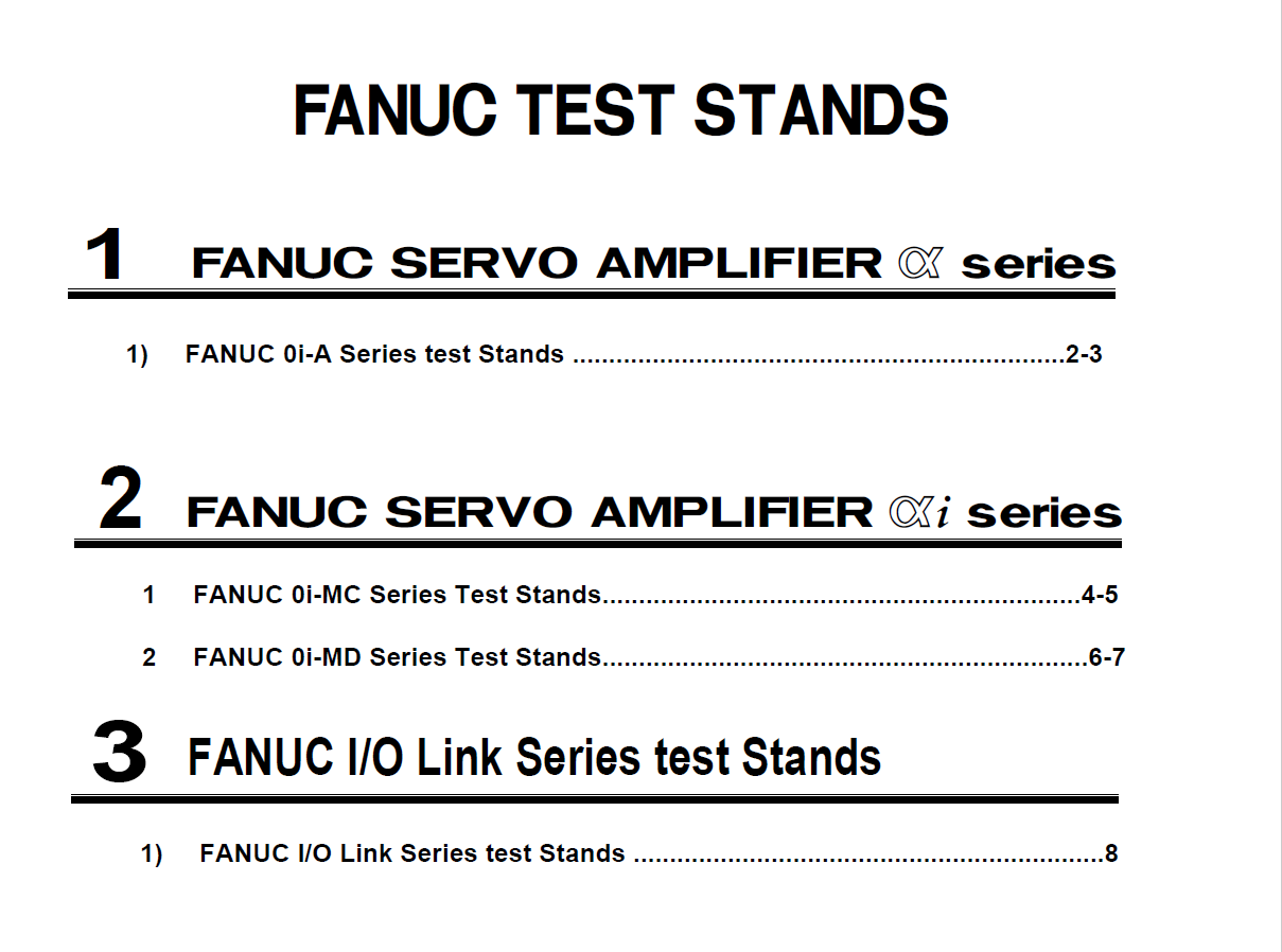 test stands
